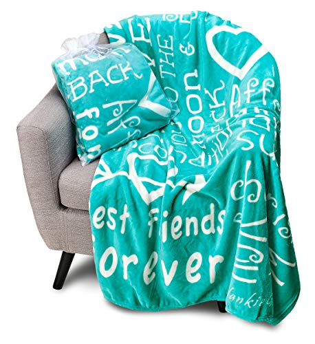 Blankiegram I Love You Throw Blanket for Best Friends