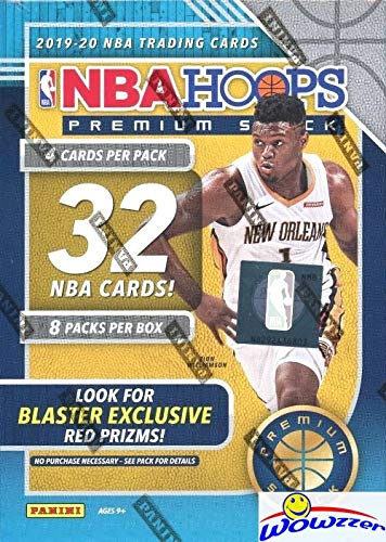 2019/20 Panini Hoops PREMIUM STOCK NBA Basketball EXCLUSIVE Factory Sealed Blaster Box with (2) Each of RED PRIZMS, SILVERS & MOJOS! Look for RCS & AUTOS of ZION WILLIAMSON, Morant & More! WOWZZER!