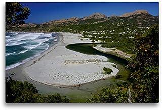 CALVENDO Premium Lienzo 75 cm x 50 cm Horizontal, ANSE d`Ostriconi Imagen sobre Lienzo, Lienzo: una bahía en la Costa Norte de Córcega 's Orte Lugares