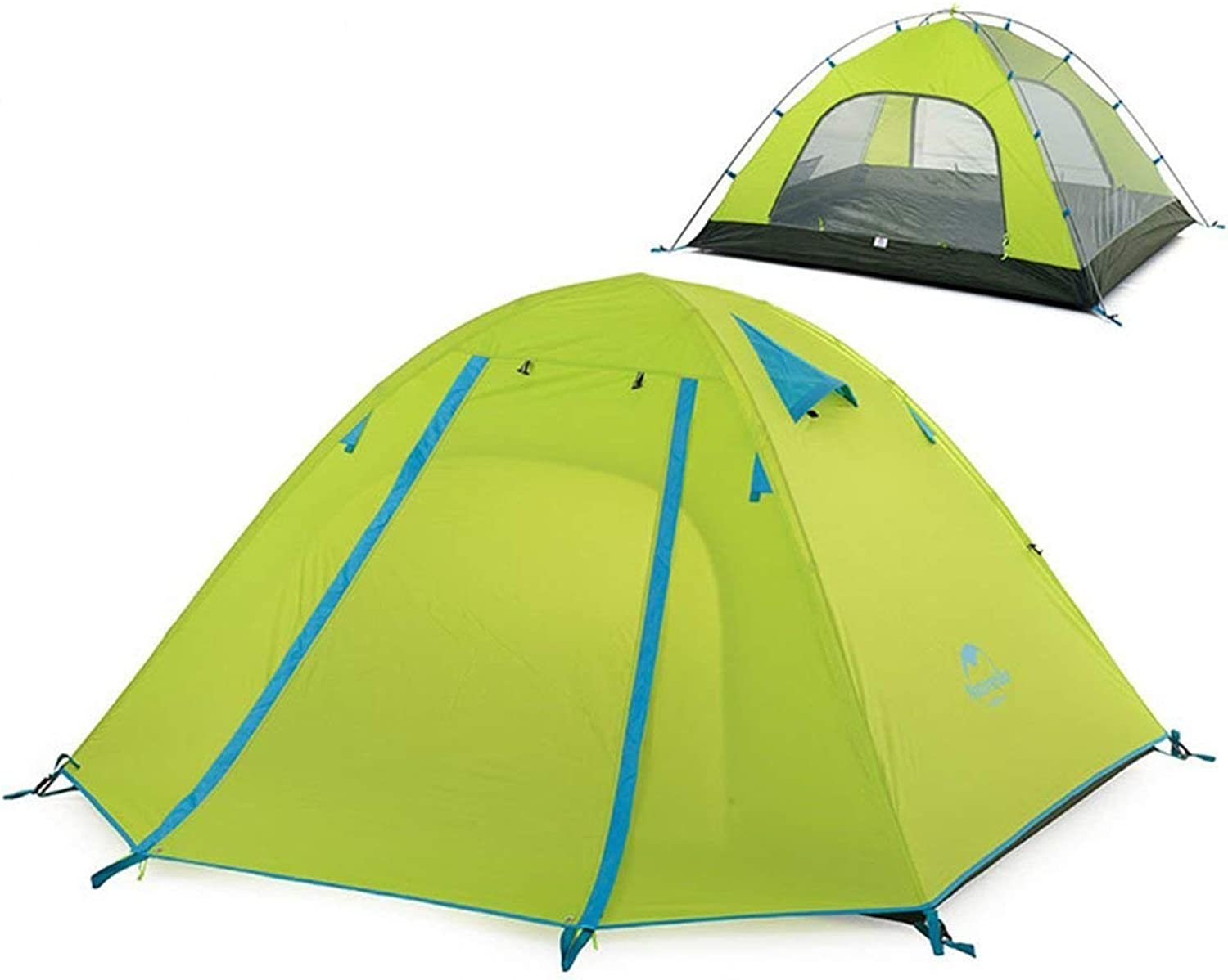 Azarxis 2 3 4 Person Backpacking Tent 3 Season Lightweight Waterproof Double Layer Two Doors Aluminum Rod Camping Tent for Hiking Traveling (Green 23 Person)