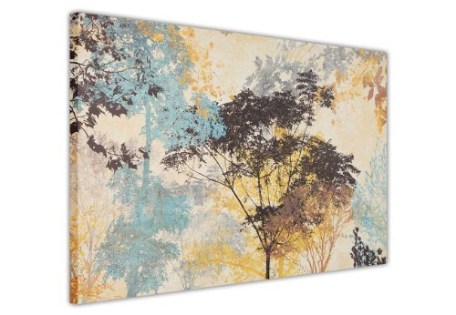 Abstrakte Leinwand, Wandkunstdruck, Motiv: Waldbäume, Fotodruck, Raumdekoration, Bilder für Zuhause, Naturleinwände