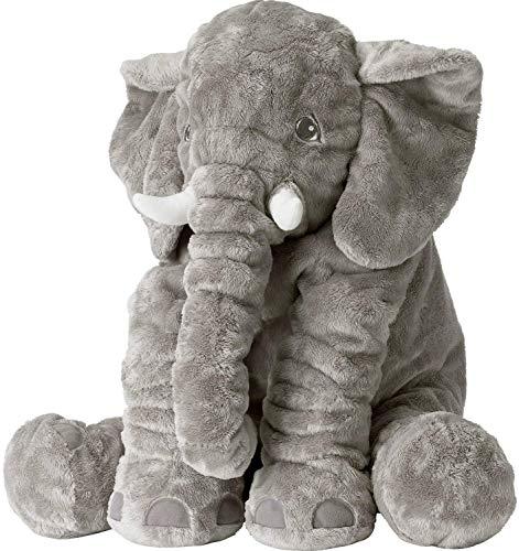 N / A XXL Elefant Kuscheltier 60cm Plüschtier Elefant Groß Geschenk für Baby Kinder