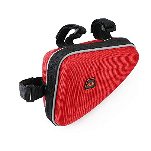 Cablematic - Bolsa maletín para cuadro de bicicleta de color rojo