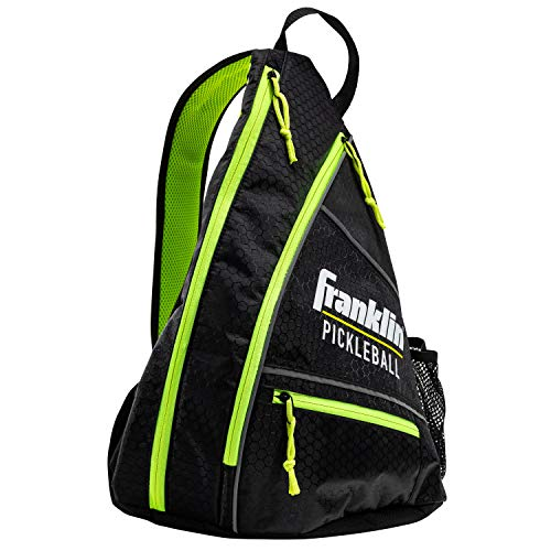 Franklin Sports Pickleball Bag - Men's and Women's Pickleball Backpack - Adjustable Sling Bag - Official Bag of U.S Open Pickleball Championships - Black/Optic, Black/Green