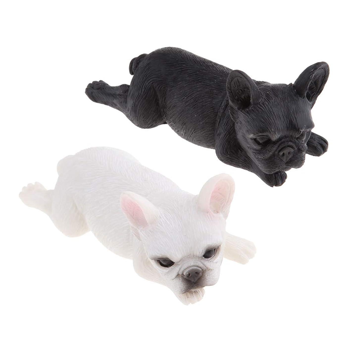 発見形状課税2ピース フレンチブル犬 ドッグモデル 動物 生き生き 置物像 子供 おもちゃ