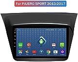 W-bgzsj para Pajero Sport 2013-2018 Doble DIN en Dash Head Unit Unit Radio de automóvil Audio Estéreo GPS Navegación Coche 9'HD Pantalla táctil Multimedia Player Link (Color : 4g+WiFi:1+16g)