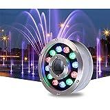 NHMT Tauch-led-licht Aquarium RGB, Outdoor-unterwasserlicht Ip68 Brunnen-unterwasserlicht, 12w...