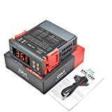 Diymore Digital Temperature Controller STC-1000 DC 12V-72V All-Purpose Heating Cooling Thermostat LED Display 2 Relays Output with NTC Sensor Probe