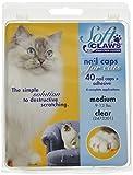 SOFT CLAWS, Kit Cappucci per Unghie per i Gatti Adulti, Trasparente, Medium