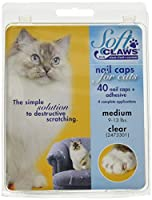 Soft Claws for Cats - CLS (Cleat Lock System), Size Medium, Color Clear by Soft Claws