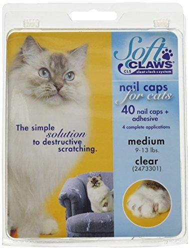 SOFTCLAWS® Krallenschutzes für Katzen,mittelgroß, Durchsichtig