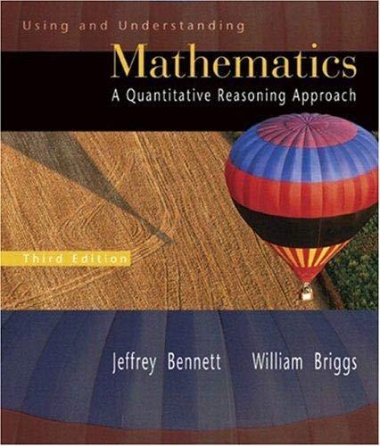 Using and Understanding Mathematics a Quantitative Reasoning Approach