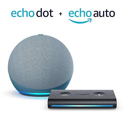 All-new Echo Dot (4th Gen) + Echo Auto | Twilight Blue