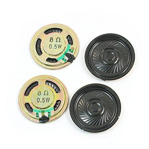 sourcing map 4Pcs 36mm Dia 0.5W 8 Ohm Interne Magnet Lautsprecher Lautsprecher für DVD/EVD