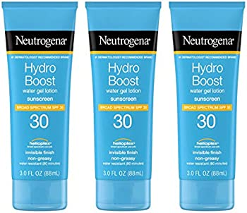 3-Pack Neutrogena Hydro Boost Moisturizing Sunscreen Lotion 3 Fl Oz