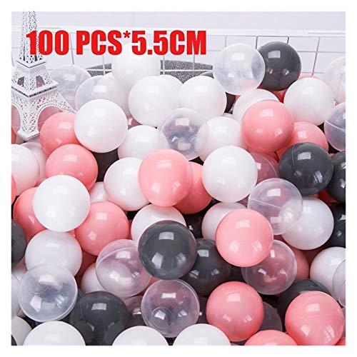 JINSUO 50/100 PCS Ecoamily Friendly Ball Pit Soft Plástico Ocean Ball Ball Pool Ocean Wave Ball Ball Juguetes al Aire Libre para niños Niños Bebé (Color : LTB01020)