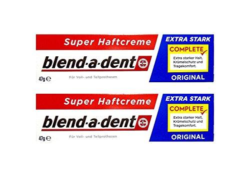 2 x 47g blend-a-dent Original Super Haftcreme - Extra Stark - Complete