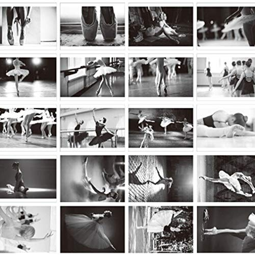 LIXIAQ1 30 Stücke Vintage Retro Traum Ballett Postkarten EIN Set Balletttänzer Postkarten für Wert Sammeln Gruß
