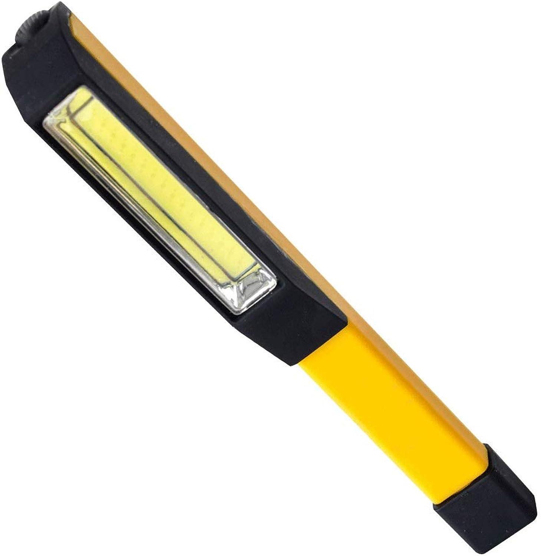 DEjh Tragbare LED Flutlicht Pocket Work Taschenlampe mit Magnetfu wasserdicht mit Rückentasche Clip