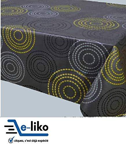 e-liko - Mantel de tela encerada, color gris antracita, 1M40 x 1 m