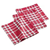 ligne décor 3 serviettes de table 45x45 cm traditio rouge