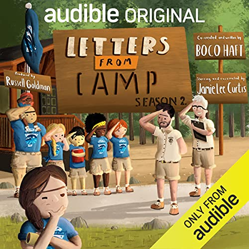 Letters From Camp, Season 2 Podcast with Jamie Lee Curtis, Sunny Sandler, Edi Patterson, Sam Haft, Kirby Howell-Baptiste, full cast cover art