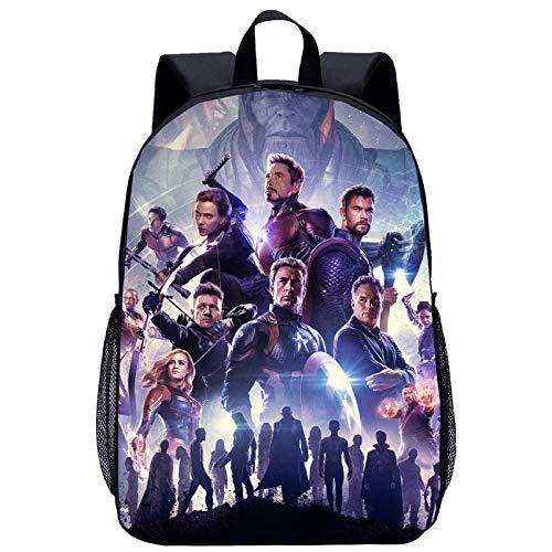 BATEKERYAS Avengers-End-Spiel 12D-Gedruckter Schulrucksack Reiserucksäcke Büchertaschen Schultasche
