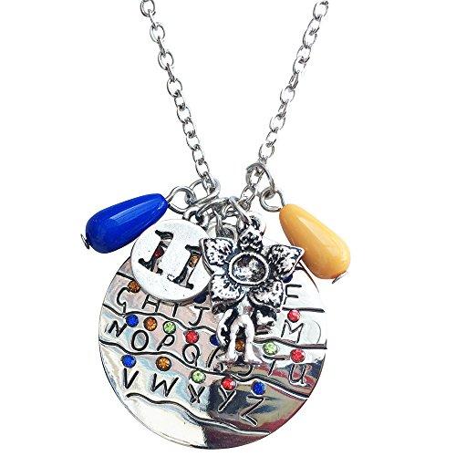Orion Creations Fremde Dinge Alphabet Weihnachten Lichter Charm Anhänger Halskette.