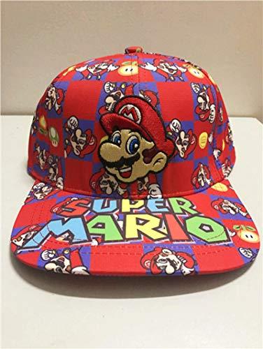 Sombrero de Super Mario Hip Hop Versión Q del sombrero de los Vengadores, hombres y mujeres, gorra de béisbol deportiva, moda, hip-hop, ala plana, lengua de pato, sombrero, punto