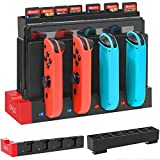 Charging Dock for Nintendo Switch Joy-Cons with Game Cards Holder, YUANHOT Upgraded Compact Charging Station Stand for Switch Joy Con Controllers