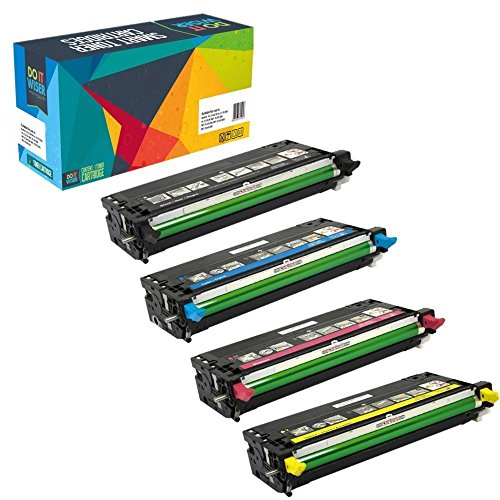 Do it wiser Compatible Toner Cartridge Replacement for Dell 3110 3110CN 3115 3115CN 593-10170 593-10171 593-10172 593-10173 - 8000 Pages per Cartridge - (Black Cyan Magenta Yellow)
