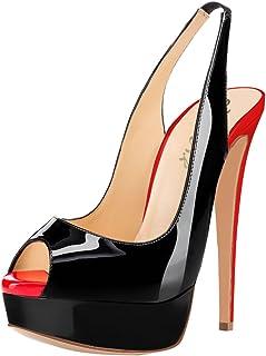 AOOAR Slingback sandalen voor dames, pumps met plateauzool.