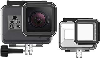 TELEISN Waterdichte Behuizing Case voor GoPro HERO 8 Zwart, 50 M Onderwater Beschermhoes met Duik Filter Rode Beugel+Schro...