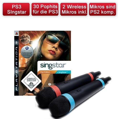 Playstation 3 PS3 SingStar POP Edition + 2 Wireless Mikrofone