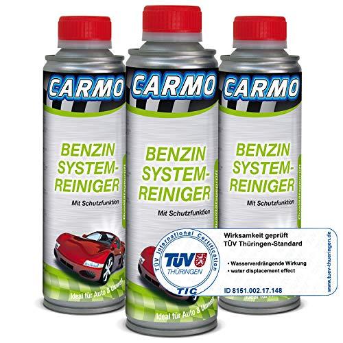 CARMO 3X Benzin System Reiniger | Einspritzsystem Reiniger | Injektor Reiniger | Einspritzdüsenreiniger | Motor Pflege | Korrosionsschutz | TÜV-Geprüft | 250 ml Dose