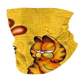 Multifunctional Headwear Garfield and Friends Face Mouth Cover, Head Wrap, Neck Gaiter, Headband Bandana, Magic Scarf, Balaclava for Outdoor Black