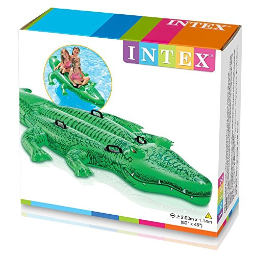 Intex Giant Gator Ride-On, 80' X 45', for Ages 3+ by INTEX RECREATION CORP
