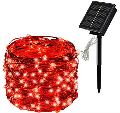 SUN100 Luces De Hadas Solares A Prueba De Agua Para La Decoración Del Jardín Al Aire Libre Fácil De Instalar