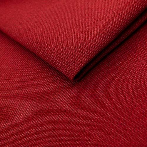 HEKO PANELS Tissus au Metre Ameublement Tissus au Metre pour Couture - 100% Polyester Facile à Nettoyer - Tissus Ameublement pour Fauteuil Sofa e Chaise - Rouge