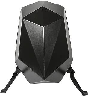 RJW Business Men's PC Polyhedron Mech Backpack Backpack Bag/Computer Bag/Multi-Function Large Capacity Bag Fashion (Color : Black)