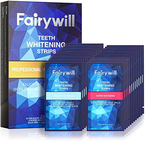 Fairywill Teeth Whitening Strips, Professional Teeth Whitening Kit for Sensitive Teeth, White Strips for Teeth Whitening Remove Tough Stains in...