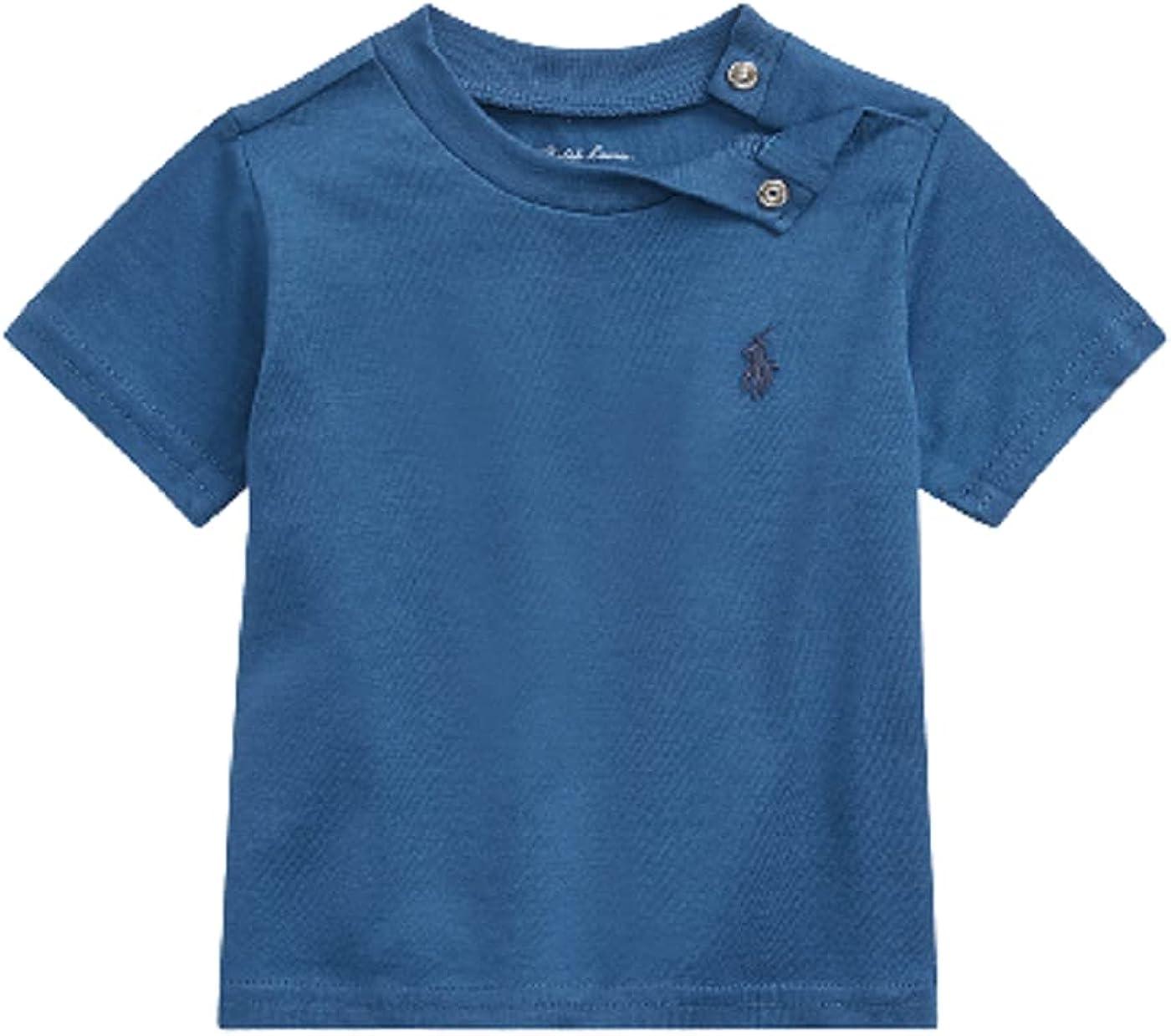 Polo Ralph Lauren Cobalt Heather Boys Cotton Jersey Crewneck T-Shirt, US 7