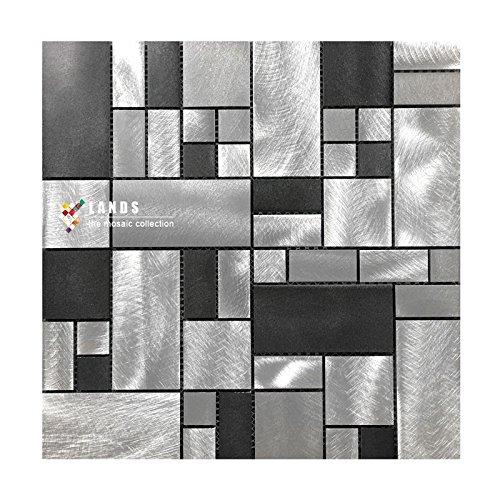 HOT!Alluminio Mosaico parete metallica parete in alluminio decorazione della parete decorazione geometrica 300*300mm--Cucina Backsplash/Parete da bagno/decorazione domestica(LSALD01) (1 tappetini (300*300mm))