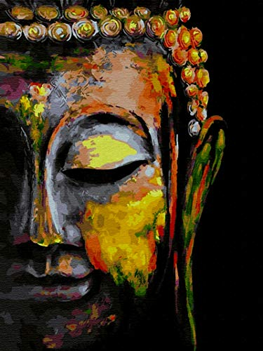 Diamond Painting Kits for Adults - 5D Diamond Painting Kit Full Drill, Buddha Paint Diamond Art Kits for Home Wall Decor(12x16inch)