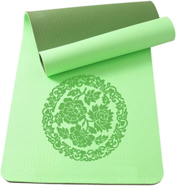 CQOZ Yogamatte übungsmatte Umweltschutzmaterial TPE Slip Professionelle Fitnessmatte Mat Yoga (Farbe   H)