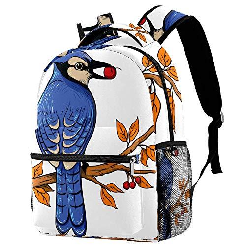 Tagesrucksack für Reise Zweig Vogelfutter ergonomischer Wasserdichter Schulrucksack Persönlichkeit Organisationstalent Rucksack für Mädchen Teenager Jungen 29.4x20x40cm