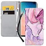 Yoedge Handyhülle für Samsung Galaxy S20 FE / S20 Lite Lederhülle,Rosa Premium Leder Flip Hülle mit Modisch Muster Brieftasche Klapphülle Handytasche Hülle für Samsung S20 FE 6,5