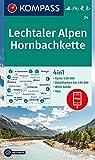 KOMPASS Wanderkarte Lechtaler Alpen, Hornbachkette: 4in1 Wanderkarte 1:50000 mit Aktiv Guide und Detailkarten inklusive Karte zur offline Verwendung ... Langlaufen. (KOMPASS-Wanderkarten, Band 24)