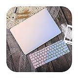 Funda para portátil Pro Retina 11 12 13 15Pro 13.3 Touch Bar 2020 A2338 A2337 M1 A2159 A2338 Cubierta de teclado gradiente rosa azul-nuevo Pro 13 pulgadas 2020