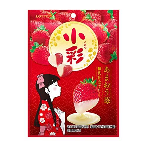 ロッテ 小彩(袋) あまおう苺(練乳仕立て) 60g ×10袋